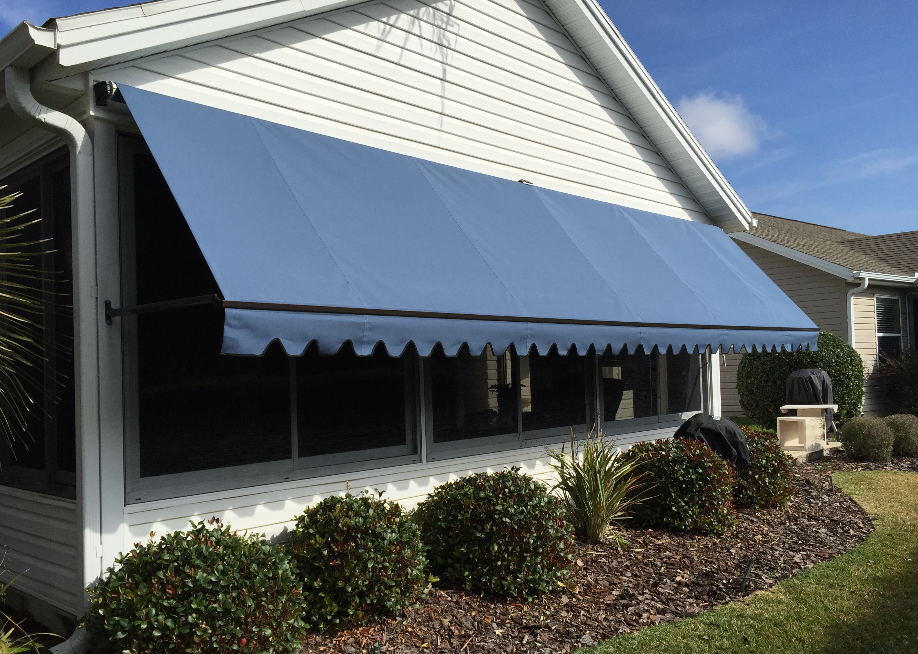Sunesta Sundrop Awning Is Used To Shade Windows Of The Home Can Be Lowered Cover Whole Window Or Brought Up Allow Light In